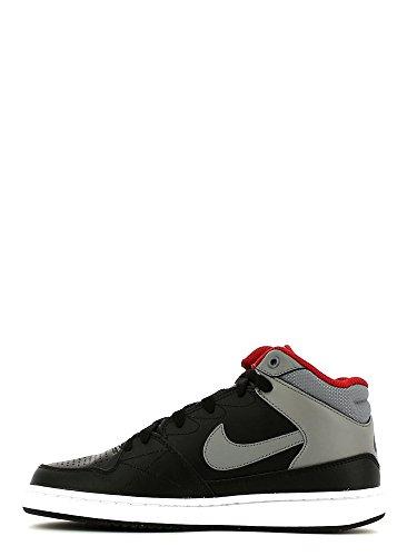 Nike Priority MID GS Zapatillas de baloncesto, Niños Negro / Gris / Rojo (Black / Cool Grey-Gym Red)