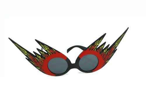 Black and Red Fire and Flames Sunglasses - Party - Sunglasses Flame
