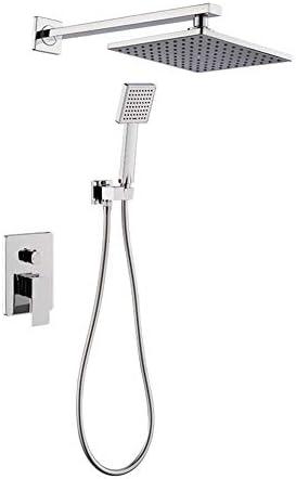 調整可能 バスルーム壁掛けデュアル機能露出シャワーミキサーセット 有用 (Bath & Shower Faucet Type : Shower Sets)