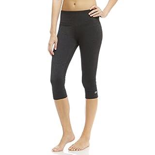 Marika Women's Brooke High Rise Tummy Control Capri Legging, Heathered Black, Medium
