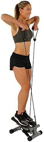 Sunny Health & Fitness Mini Stepper with Resistance Bands 7