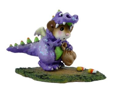 Wee Forest Folk Halloween Purple Dragon Dress Up Mouse