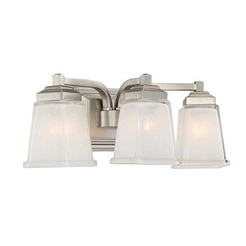 Elloree 3-Light 6.75-in Brushed Nickel Square Vanity Light 85%OFF