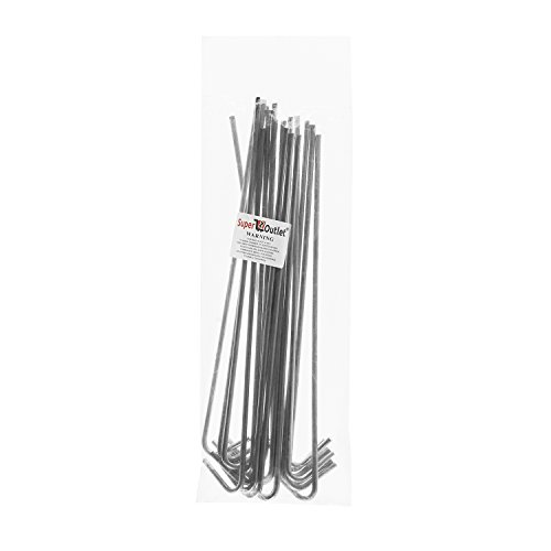 9-Galvanized-Non-Rust-Anchoring-Tent-Stakes-Pegs-for-Outdoor-Camping-Soil-Patio-Gardening-Canopies-Landscaping-Trim-20-Pack-by-Super-Z-Outlet