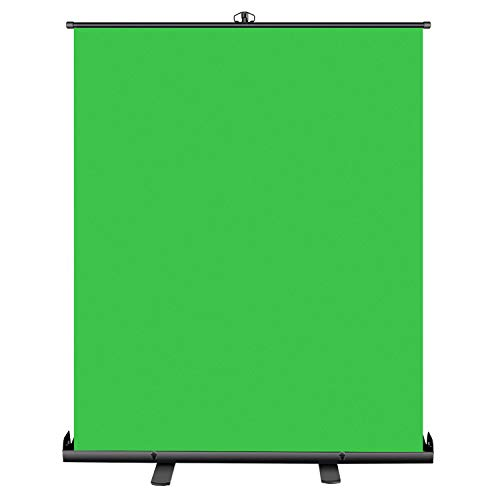 Neewer Green Screen, 58x72inches Collapsible Chroma Key Panel for Background Removal with Stable Back Support, Wrinkle-Resistant Chroma-Green Fabric, Aluminium Hard Case for Live Game Virtual Studio