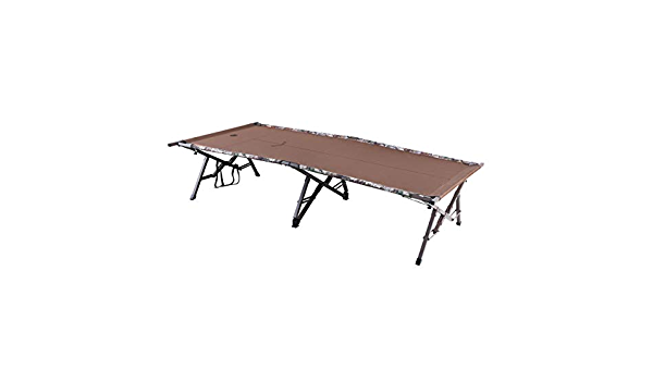 Weight Capacity Folding Camo Cot with Carry Bag Timber Ridge TR Fir Magnum XL Oversized Heavy Duty 600 LBS