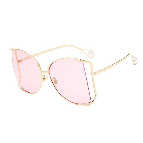 Übergroßen Uv400 Sonnenbrille Für C9 Rahmen Sonnenbrille C1 Frauen KXLEB Perle Quadratischen Große Dekoration Frauen Klare Linse SFASHdq