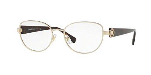 Versace VE1246B Eyeglass Frames 1252-54 - Pale Gold - Gold Frames Men Versace For