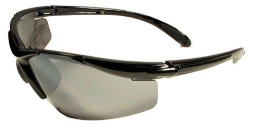 JiMarti JM01 Sunglasses for Golf, Fishing, Cycling-Unbreakable-TR90 Frame (Black & Smoke Flash)
