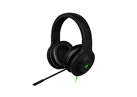 Razer Kraken USB - Black Noise Isolating Over-Ear Gaming Headset with Mic - Compatible with PC & Playstation (Ps Four Headset)