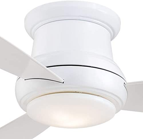 Minka-Aire F519L-WH Concept II 52 Inch Ceiling Fan Flush Mount Ceiling Fan