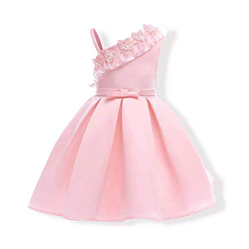 Bon Soir Dress Toddlers Dress Up Princess Halloween Costume for Girls Party Dresses(Pink-3-4 Years) ()