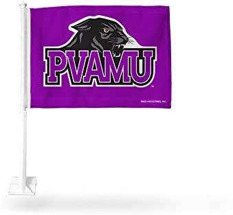NCAA Prairie View A&M Panthers Car Flag, Purple, with White Pole 31I84uteKDL