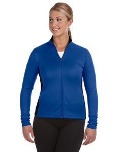 Women's Double Dry Colorblock Full Zip Jacket, ATH ROYAL/BLACK, XX-Large