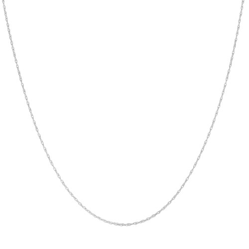 Platinum 950 Light Rope Chain Necklace (0.9mm, 18 inch)