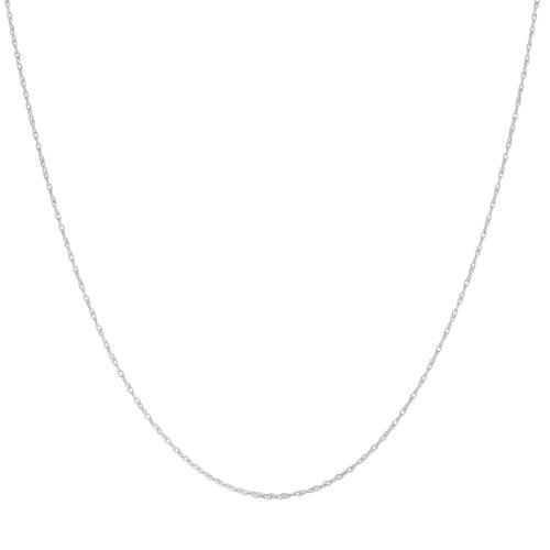 Platinum 950 Light Rope Chain Necklace (0.9mm, 24 (Womens Platinum 950)