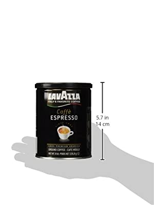 Lavazza Caffe Espresso Ground Coffee, 8-Ounce Cans from Lavazza