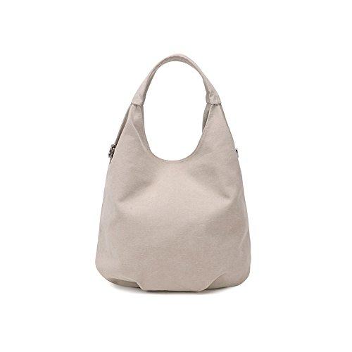 hombro Bag Off Multicolor White al Bolso UNYU mujer Hobo para Canvas q6XFw4wR