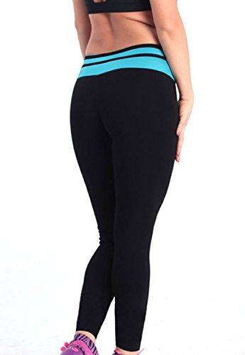 ABUSA Damen Slim Leggings Gr. X-Large, Blau - Acid Blue A136