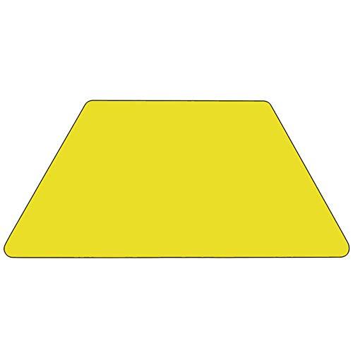 Oliver 25x45 Trapezoid Yellow HP Laminate Adjustable Activity Table Emma