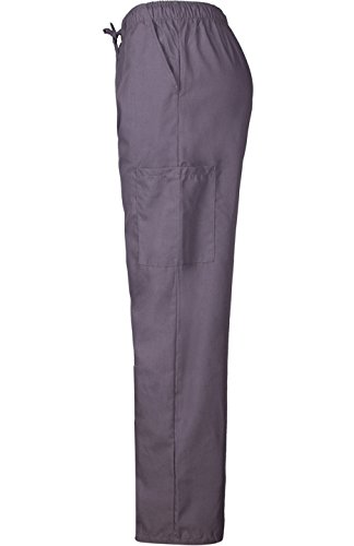 MedPro Women's Medical Scrub Set with Printed Wrap Top and Cargo Pants Purple Grey XL by MedPro (Image #6)