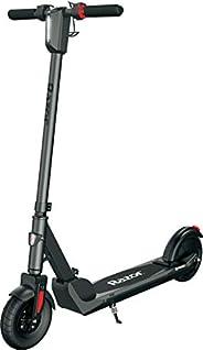"Razor E Prime III Electric Scooter - 18 mph, 15 Mile Range, 8"" Pneumatic Front Tire, Foldable, Portable a"