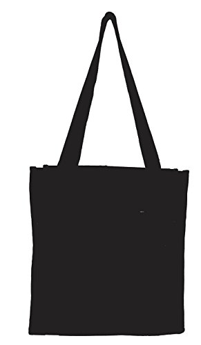 Bag w/ Mesh Water Bottle Pocket (Black) (Small Tote)