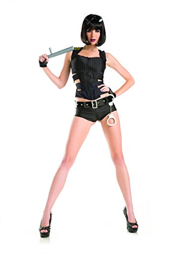 Adult Women's 6 PIece Sexy SWAT Officer Halloween Party (Female Swat Halloween Costume)