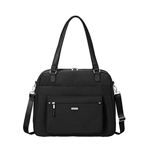 Baggallini Overnight Expandable Laptop Tote with RFID Phone Wristlet (Black)