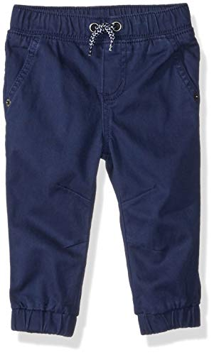 Gymboree Baby Boys Woven Jogger Pants, Navy Twill, 12-18 - Boys Twill Pants Infant
