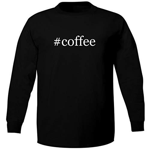 #Coffee - Adult Soft Long Sleeve T-Shirt, Black, Medium