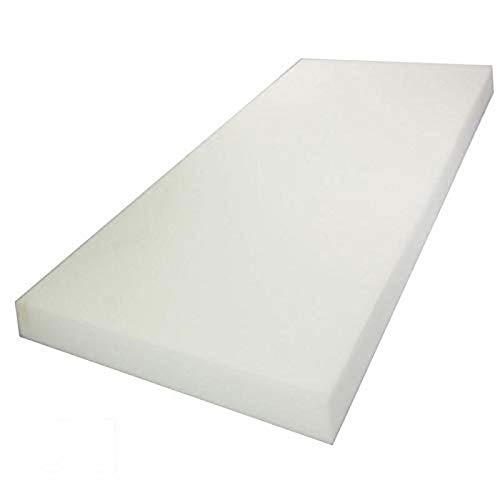 "Mybecca Upholstery Foam Cushion High Density (Seat Replacement, Upholstery Sheet, Foam Padding), 2"" H x 24"" W x 72"" L from Mybecca"