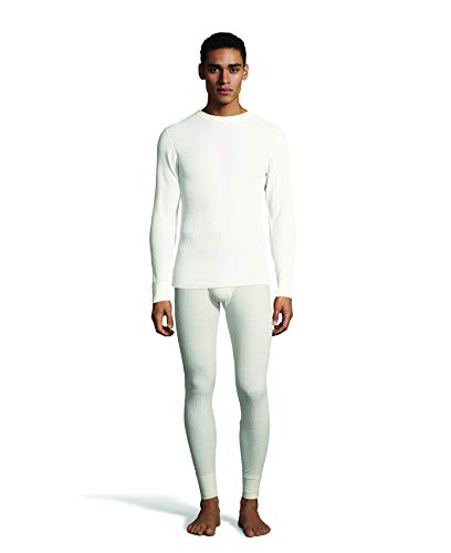 Long Set Underwear Sleeve Cotton (Hanes Men's Waffle Knit Thermal Crew Neck Long Sleeve T-Shirt with FreshIQ, X-Temp Technology & Organic Cotton)