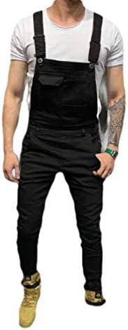 [해외]GAGA Mens Denim Overalls Fashion Ripped Jeans Slim JumpsuitPockets / GAGA Mens Denim Overalls Fashion Ripped Jeans Slim JumpsuitPockets 1 M