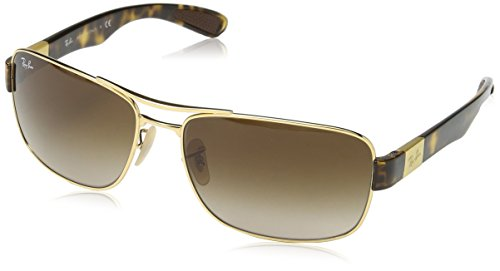 Ray-Ban Men's Steel Man Rectangular Sunglasses, Arista, 61 - Lentes Rayban