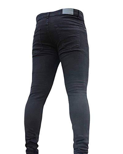 Battercake Cómodo Pantalones Bolsillo Negro Mezclilla Vintage Design Fit Cómodos Para Hombres Vaqueros De Classics Slim AqrH4wAxz