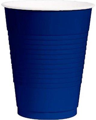Bulk Plastic Cups | 50ct (12oz, Royal Blue)