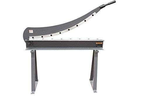 KAKA Industrial HS-40 Manual Guillotine Shear, 40-Inch,16 Gauge Sheet Metal Fabrication Plate Cutting Cutter With Stand