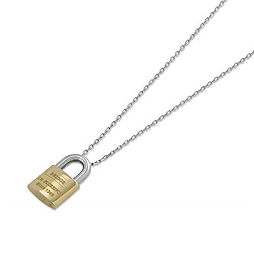 rivenditore online 5a53e 8313d Pontevecchio collana con lucchetto oro bianco giallo LLP1WY ...