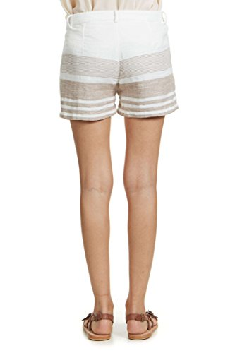 Short Yaya Blanc Gris Femme