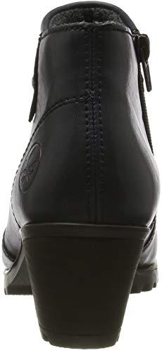 Rieker Damen Stiefeletten M8081, Frauen Ankle Boots, Stiefel halbstiefel Bootie knöchelhoch reißverschluss Damen Frauen,Navy / 14,37 EU / 4 UK 3