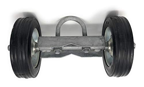 6'' ROLLING GATE CARRIER WHEELS: for chain link fence rolling gates - rut runner by FenceSmart4U (Image #2)