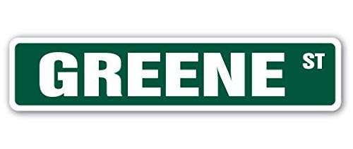 Cortan360 GREENE Street Sign village chenango county new york| Indoor/Outdoor | 8