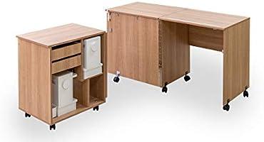 Comfort 8 | Mesa para máquina de coser y overlock | (Oak Sorano ...