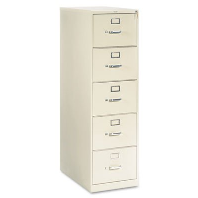 Vertical File Hon Office Furniture (310 Series Five-Drawer, Full-Suspension File, Legal, 26-1/2d, Putty, Sold as 1 Each)