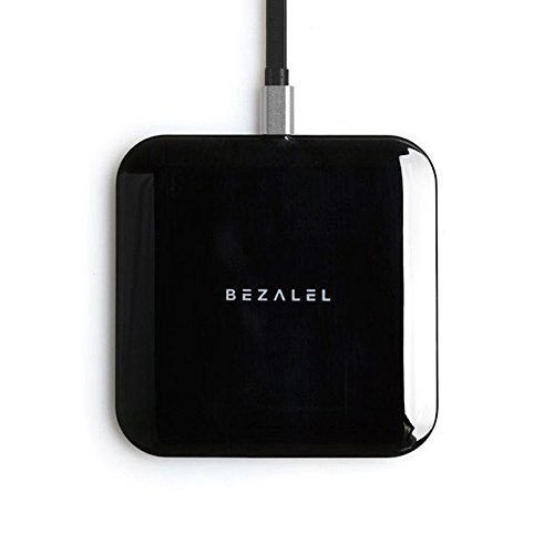 BEZALEL 10W Wireless Charger Qi Certified, Futura X Ultra-Thin Fast Charge Charging Pad Compatible with iPhone Xs/XR/XS Max/X/8 Plus Galaxy S10/S9/S8 Note 9/8 LG G6/G7/V30/V40, 5W for Pixel 3XL Black