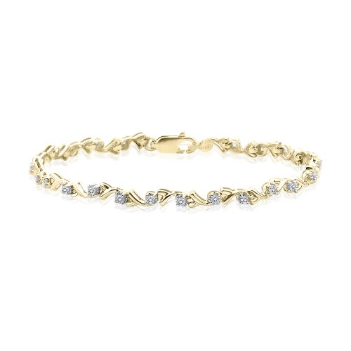 KATARINA Diamond Tennis Bracelet in 10K Yellow Gold (1/2 cttw) - 8