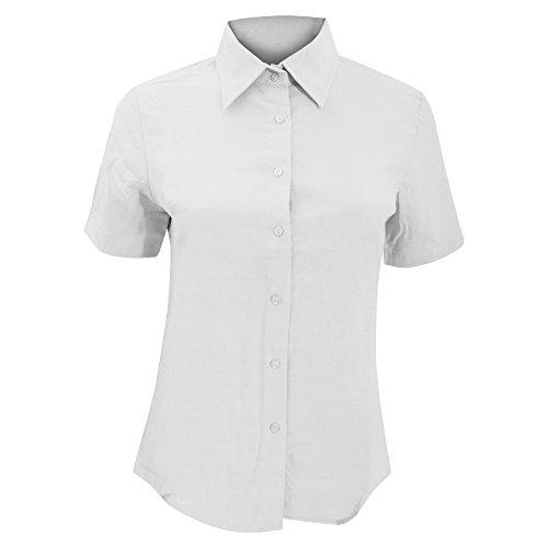 SOLS- Camisa de trabajo Elite de manga corta para mujer Azul cielo