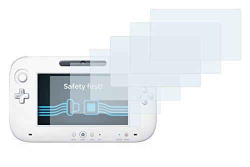savvies Protector Pantalla Compatible con Nintendo Wii U Gamepad (Controller) (6 Unidades) Pelicula Ultra Transparente 3