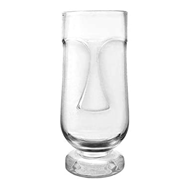 Exotic Tiki Face Cocktail Glass 20 oz (Set of 4 Glasses)